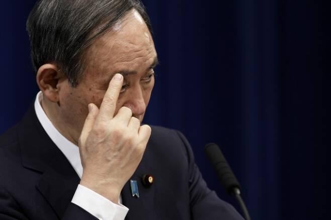 스가 요시히데 일본총리 /사진=AFP