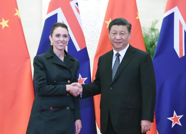저신다 아던 뉴질랜드 총리와 시진핑 중국 국가주석. /신화 연합뉴스