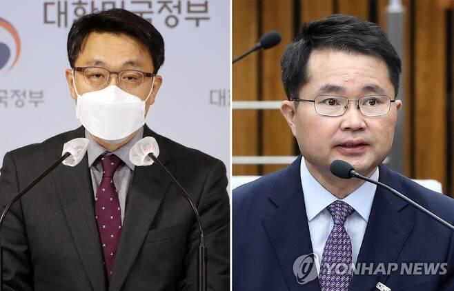 김진욱 고위공직자범죄수사처 처장과 여운국 변호사 [연합뉴스 자료사진]