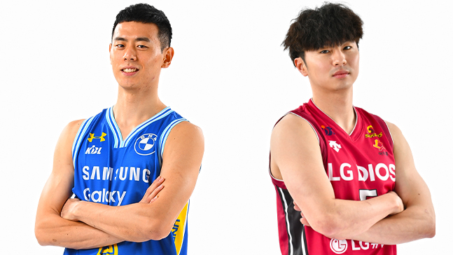 프로농구단 서울 삼성 썬더스와 창원 LG 세이커스가 이관희 김시래(왼쪽부터)를 맞바꾸는 것을 골자로 하는 2대2 트레이드에 합의했다.