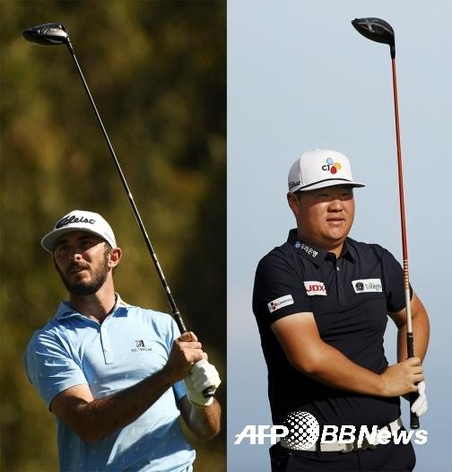 2021년 미국프로골프(PGA) 투어 제네시스 인비테이셔널 우승자 맥스 호마, 그리고 임성재 프로. 사진제공=ⓒAFPBBNews = News1