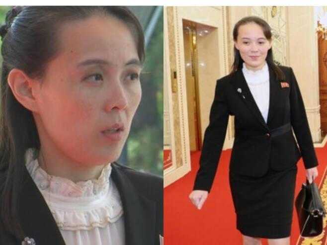 단정한 투피스를 선호하는 북한 김여정 당 부부장. 연합뉴스