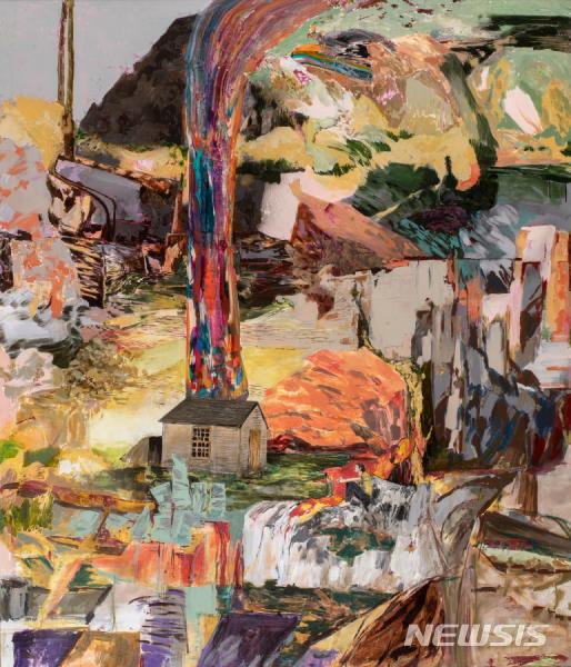 [서울=뉴시스] 헤르난 바스, The Thought Flow(Cabin at Walden)_acrylic airbrush on linen over panel_213x183cm_2009