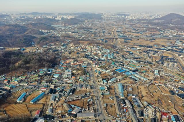 24일 신규 공공택지로 지정된 경기 광명시흥 일대. 뉴스1