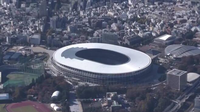 오는 7월 도쿄올림픽 개·폐회식이 열릴 예정인 도쿄 신국립경기장  (사진 : NHK방송)