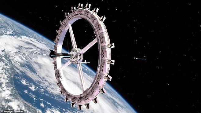 최대 400명 수용…세계 최초의 우주 호텔, 2025년 착공 예정