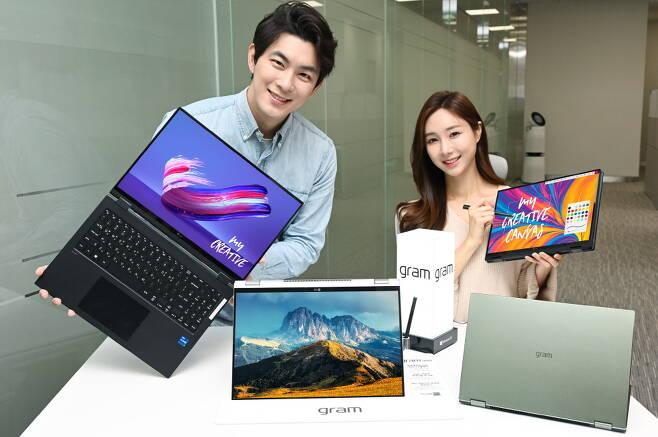LG전자가 2월 출시한 16인치 대화면 투인원 노트북 'LG 그램 360' /사진=LG전자