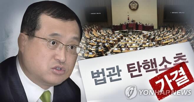 국회, 임성근 판사 탄핵소추 가결 (PG) [박은주 제작] 사진합성·일러스트