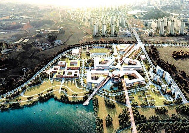한국에너지공대 나주 캠퍼스 조감도.