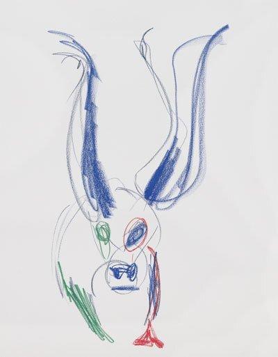 이미 판매된 하지원의 그림 '슈퍼카우 3'. 사진 레이빌리지