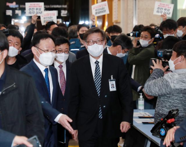 박형준 부산시장이 8일 오전 부산시청에서 열린 취임식에 참석하고 있다. /연합뉴스