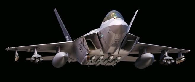 미티어 중거리 공대공미사일을 장착한 KF-21의 상상도. MBDA 제공