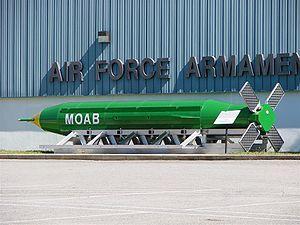 2003년 미국이 개발한 핵폭탄급 재래식 폭탄 'MOAB'. 위키피디아