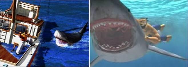 (버추어 파이터 바다사나이 제프리.. 그는 상어를 잡기 위해 어군탐지기가 꼭 필요했다..)