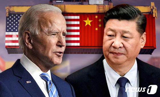 조 바이든 미국 대통령(왼쪽)과 시진핑 중국 국가주석 © News1 최수아 디자이너
