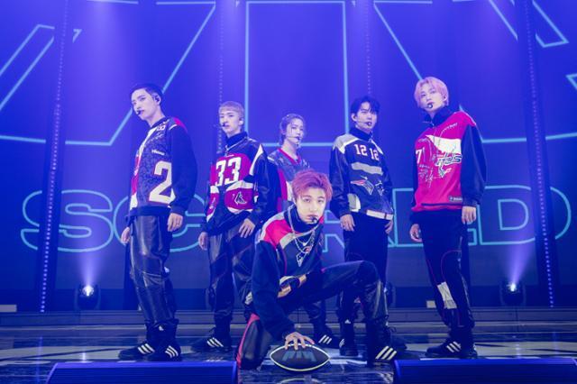 피원하모니는 20일 서울 용산구 한남동 블루스퀘어 마스터카드홀에서 두 번째 미니앨범 'DISHARMONY: BREAK OUT' 발매 기념 미디어 쇼케이스를 개최했다. FNC엔터테인먼트 제공
