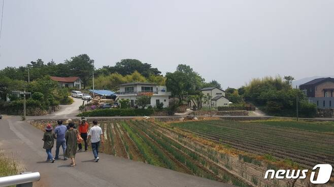 문 대통령 사저가 들어설 양산 하북면 지산리 평산마을 전경. © 뉴스1