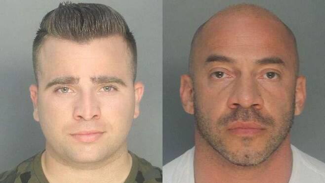 엉터리 교통위반 딱지 발급한 미국 경찰 마르티네스(왼쪽)와 페레스. 미국 마이애미 경찰 제공. 재판매 및 DB 금지.