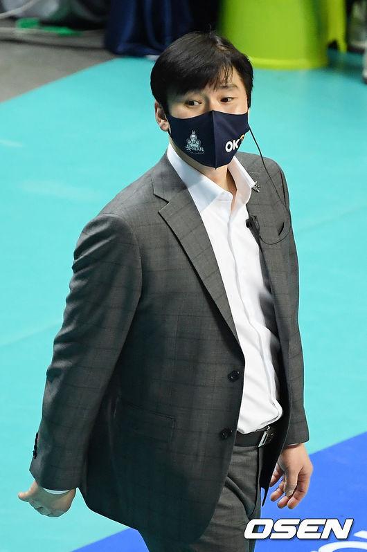 [OSEN=민경훈 기자] OK금융그룹 석진욱 감독./ rumi@osen.co.kr