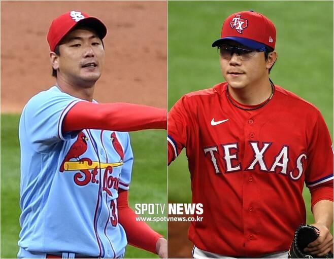 ▲ 김광현(왼쪽)과 양현종이 6일 같은 시간대 경기에 나란히 선발 등판한다. ⓒ 조미예 특파원