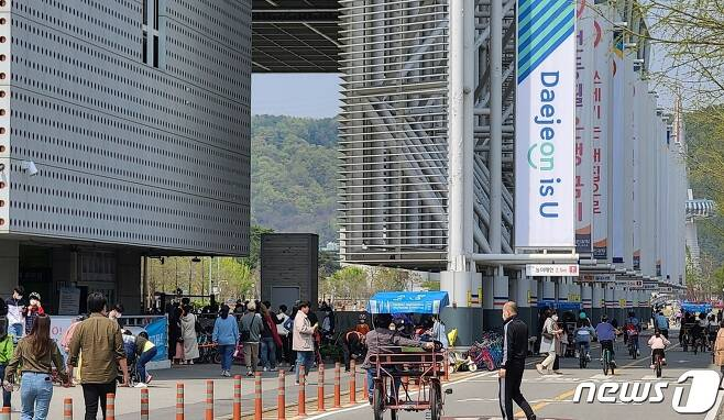 어린이날인 5일 대전 엑스포시민광장에 수많은 인파가 몰렸다. © 뉴스1