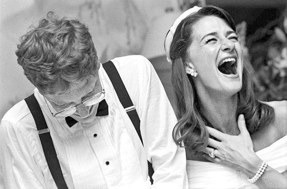 1994년 1월 1일 하와이에서 결혼한 게이츠 부부. [멀린다 게이츠 인스타그램]