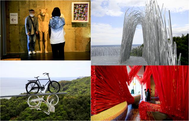 하슬라아트월드에 설치된 작품들은 관람객들의 호기심을 불러일으킨다.