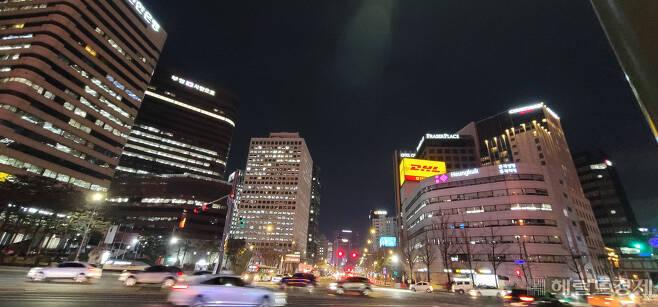 올해 1분기 서울 남대문 소재 오피스가 ㎡당 가장 높은 임대료 수준을 기록했다. 사진은 남대문, 시청 일대 오피스지구.[헤럴드경제DB]