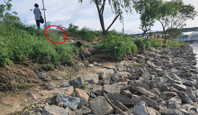 손정민씨의 친구 A씨가 지난달 25일 새벽 4시 20분쯤 발견된 장소. 서울경찰청