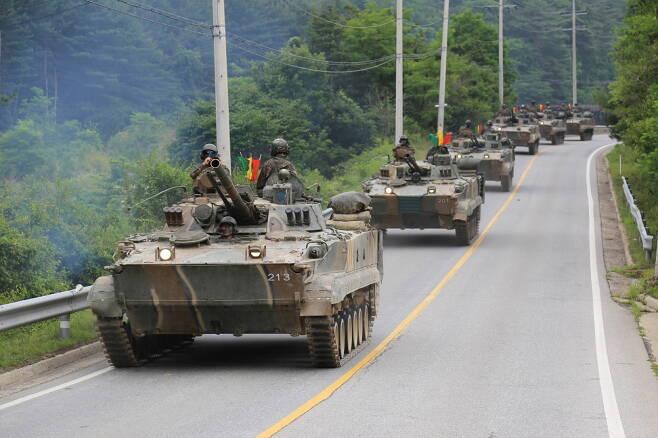 BMP-3는 과거 소련이 개발한 보병전투장갑차로 2000여대가 생산되었으며, 러시아와 우리나라를 포함해 10여개 국가가 운용 중이다. 사진=육군