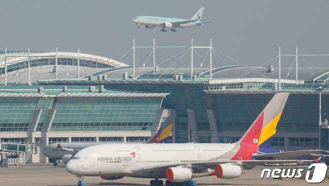 인천국제공항 모습. 2021.3.8/뉴스1 © News1 안은나 기자