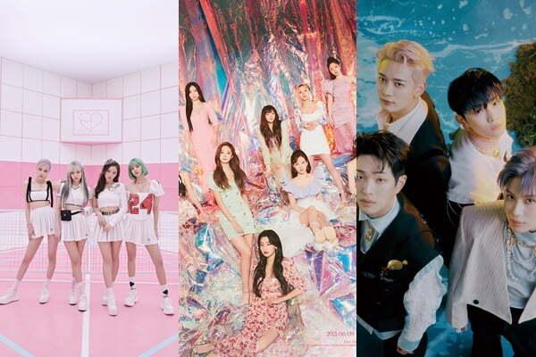 블랙핑크, 트와이스, 샤이니/사진=YG엔터테인먼트, JYP엔터테인먼트, SM엔터테인먼트
