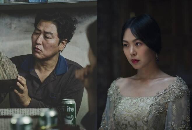 출처: 배우 송강호, 김민희. 영화 '기생충', '아가씨' 스틸. 사진 CJ엔터테인먼트