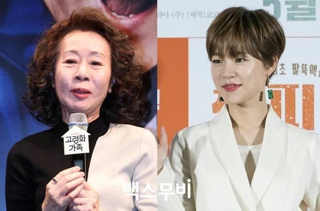 출처: 영화 '미나리' 배우 윤여정(왼쪽)과 한예리. 사진 맥스무비 DB