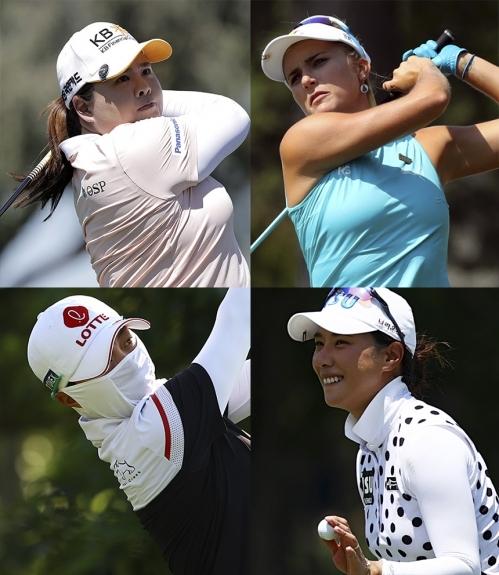 2021년 미국여자프로골프(LPGA) 투어 메디힐 챔피언십에 출전하는 박인비, 김효주, 박희영 프로, 렉시 톰슨. 사진제공=Getty Images