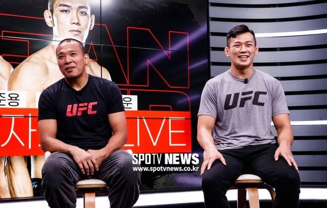 ▲ 박준용(왼쪽)과 정다운은 한국 대표 중량급 파이터들이다. UFC에서 순항 중이다.