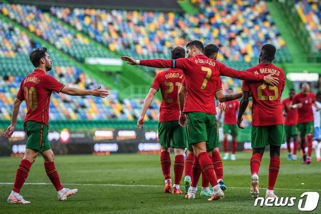 포르투갈 대표팀 주장 호날두 © AFP=뉴스1