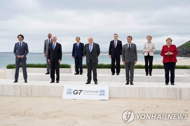G7 정상회의 기념사진 [로이터=연합뉴스]