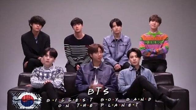 '프렌즈' 특별판에서 삭제된 BTS 출연 영상 (미국 HBO 유튜브 채널 캡처)