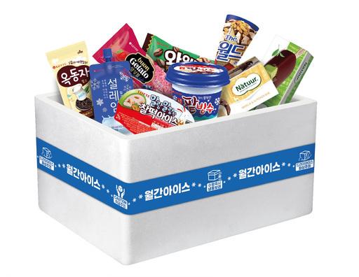 롯데제과의 아이스크림 구독 서비스.