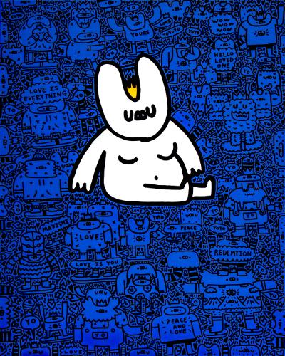 한국의 30대 작가 요요진의 디지털 아트 작품 '요요 형상'. 작가 제공