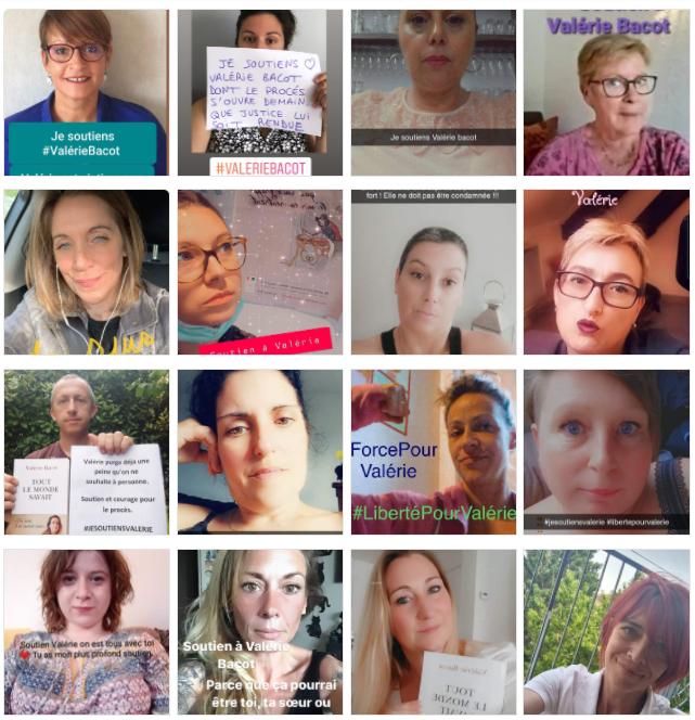 사회관계망서비스(SNS)에서는 바코의 무죄를 주장하는 이들의 지지 서명이 이어지고 있다. /사진='Petition de soutien a Valerie Bacot' 페이스북