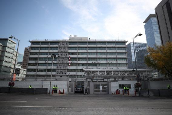 서울 광화문에 위치한 미국대사관 전경.(사진=연합뉴스 제공)