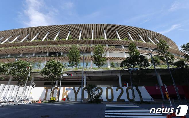 2020 도쿄올림픽 개막식이 진행될 도쿄 메인 스타디움. 2021.7.16/뉴스1 © News1 송원영 기자