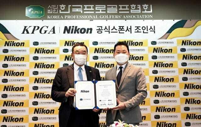 니콘이미징코리아는 KPGA 후원 계약 등을 통해 골프 거리측정기 '쿨샷'에 공을 들이고 있다. (사진=니콘이미징코리아)