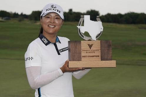 2021년 미국여자프로골프(LPGA) 투어 볼런티어스 오브 아메리카(VOA) 클래식에서 우승을 차지했던 고진영 프로. 사진제공=Getty Image