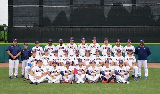 미국 야구대표팀. 사진=USABASEBALL SNS 캡처