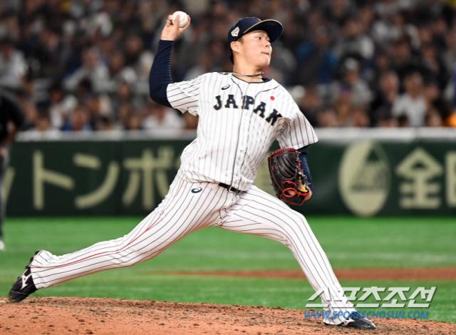 ◇2019 프리미어12 당시 야마모토 요시노부. 스포츠조선DB