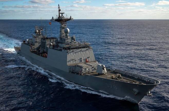 2021년7월 호주에서 실시된 다국적 훈련 '탤리스먼 세이버 2021'에 처음으로 참가한 한국형 구축함 왕건함. /미 국방부