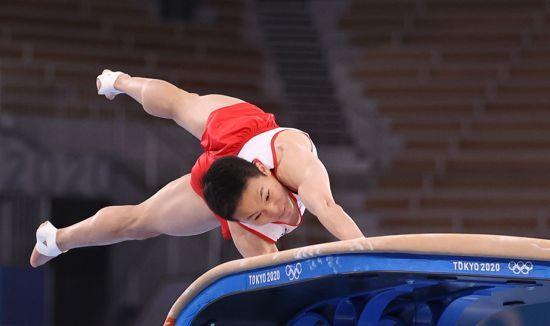 2일 2020 도쿄올림픽 한국 남자 기계체조 도마 결선에 출전하는 신재환 선수. [이미지출처=연합뉴스]